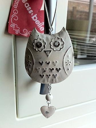 hanging owl decoration vintage white home decor bedroom bathroom kitchen girls by rjb stone - Home Decor Uk