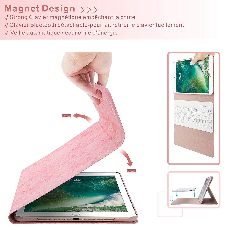 BAIBAO Funda Teclado para iPad 2018 Rose Teclado para iPad Air 2//1//9.7//2018//2017 con Teclado Bluetooth Espa/ñol Inal/ámbrico,Funda para iPad con Teclado Desmontable