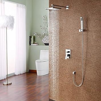 Y&L® Bathroom Brass Shower Faucet with Slide Bar Hand Shower ...
