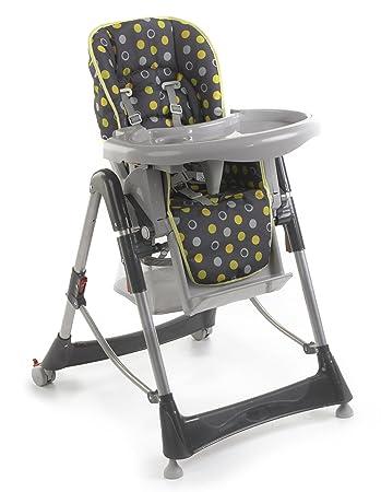 Chic 4 Baby 335 42 Hochstuhl, Rückenlehne und Sitzhöhe verstellbar, Lemontree
