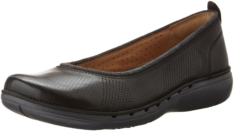 CLARKS Women's Un Elita Flat B0195GSI7Q 5.5 B(M) US|Black Leather