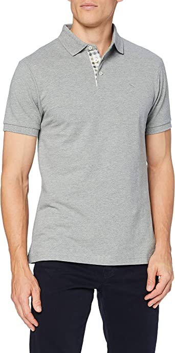 Hackett London Check Trim Pique SS Camisa para Hombre: Amazon ...