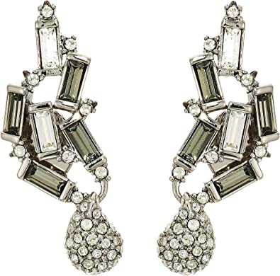 5b6b01bc9 Amazon.com: Alexis Bittar Women's Climbing Crystal Baguette Post Earrings  Rhodium/Ruthenium Accents One Size: Jewelry