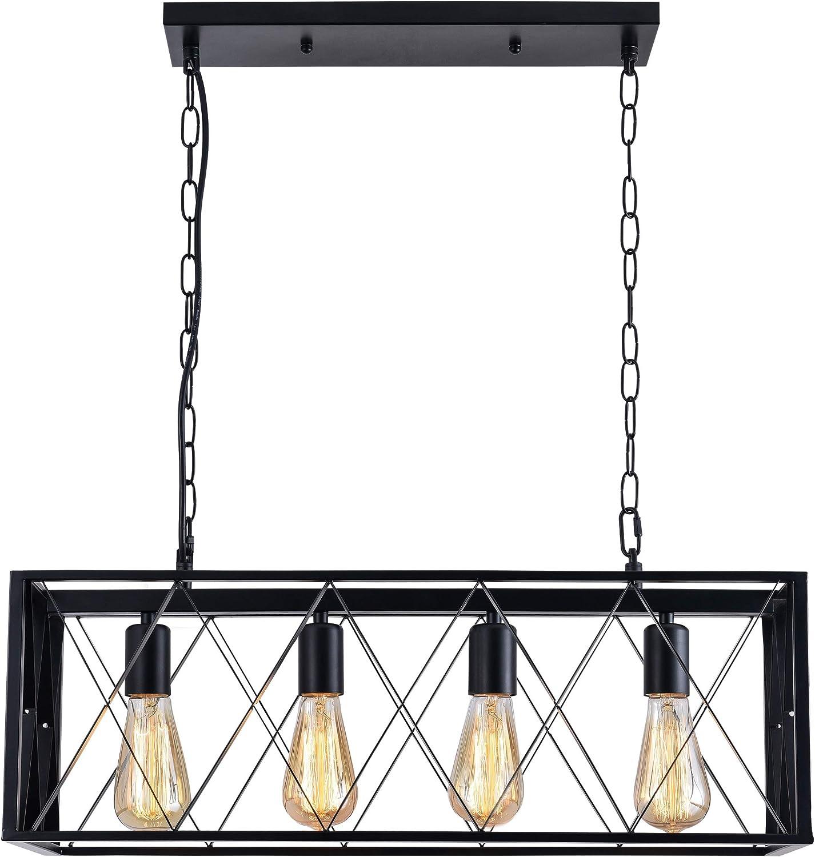 ISRAMP 4 Lights Pendant Lighting, Industrial Kitchen Light Fixtures,  Simplicity Dining Room Pendant, Ceiling Hanging Kitchen Bar Lights, Metal  Matte ...