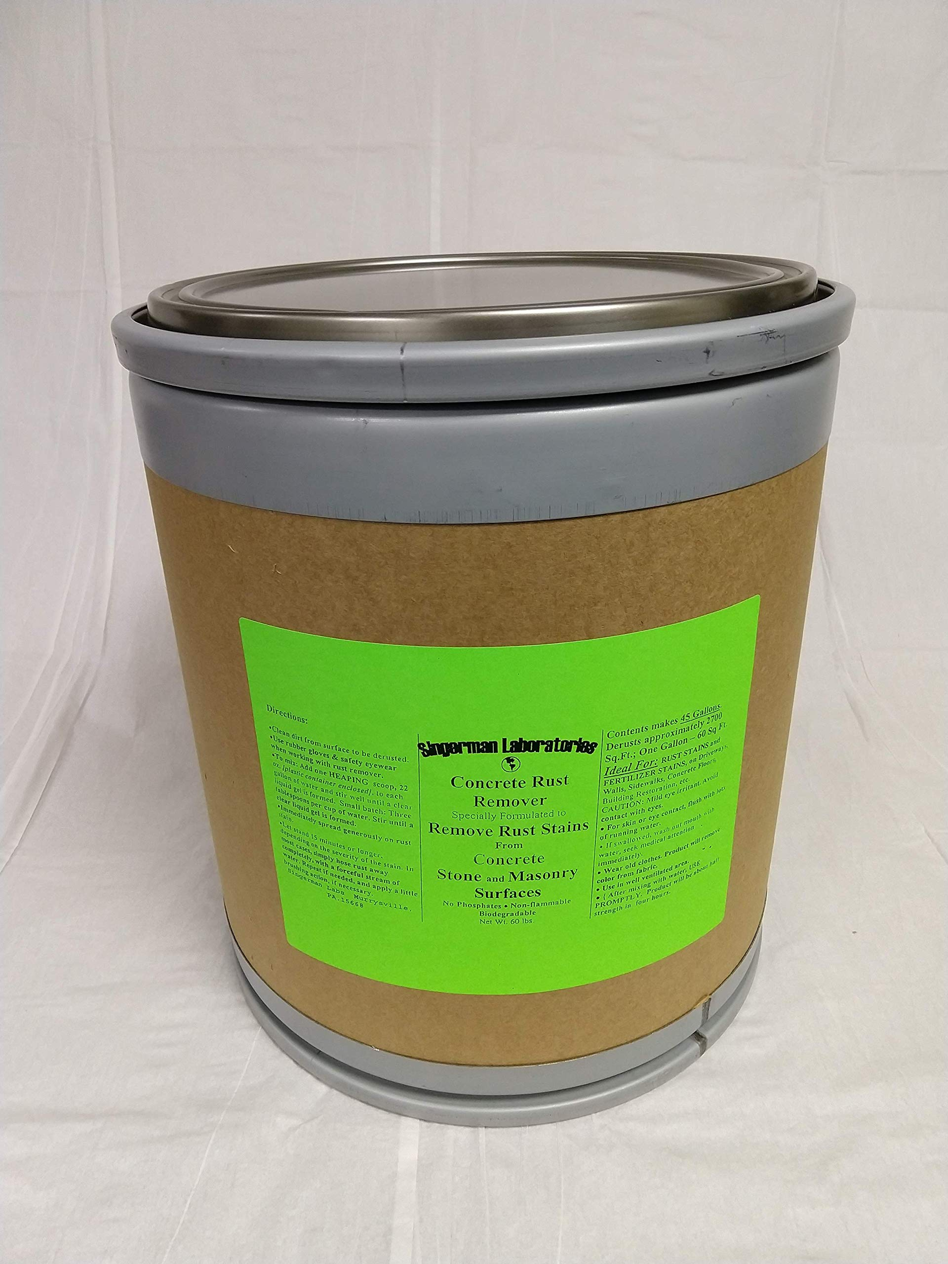 Singerman Laboratories Rust Remover for Concrete (60 lb. Drum makes 45 gallons) by Singerman Laboratories (Image #1)