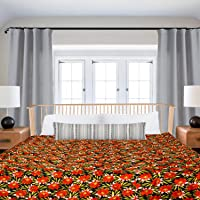SPREADING SMILES Microfibre Reversible Comforter, Double (Cream-Pink, 200 GSM)
