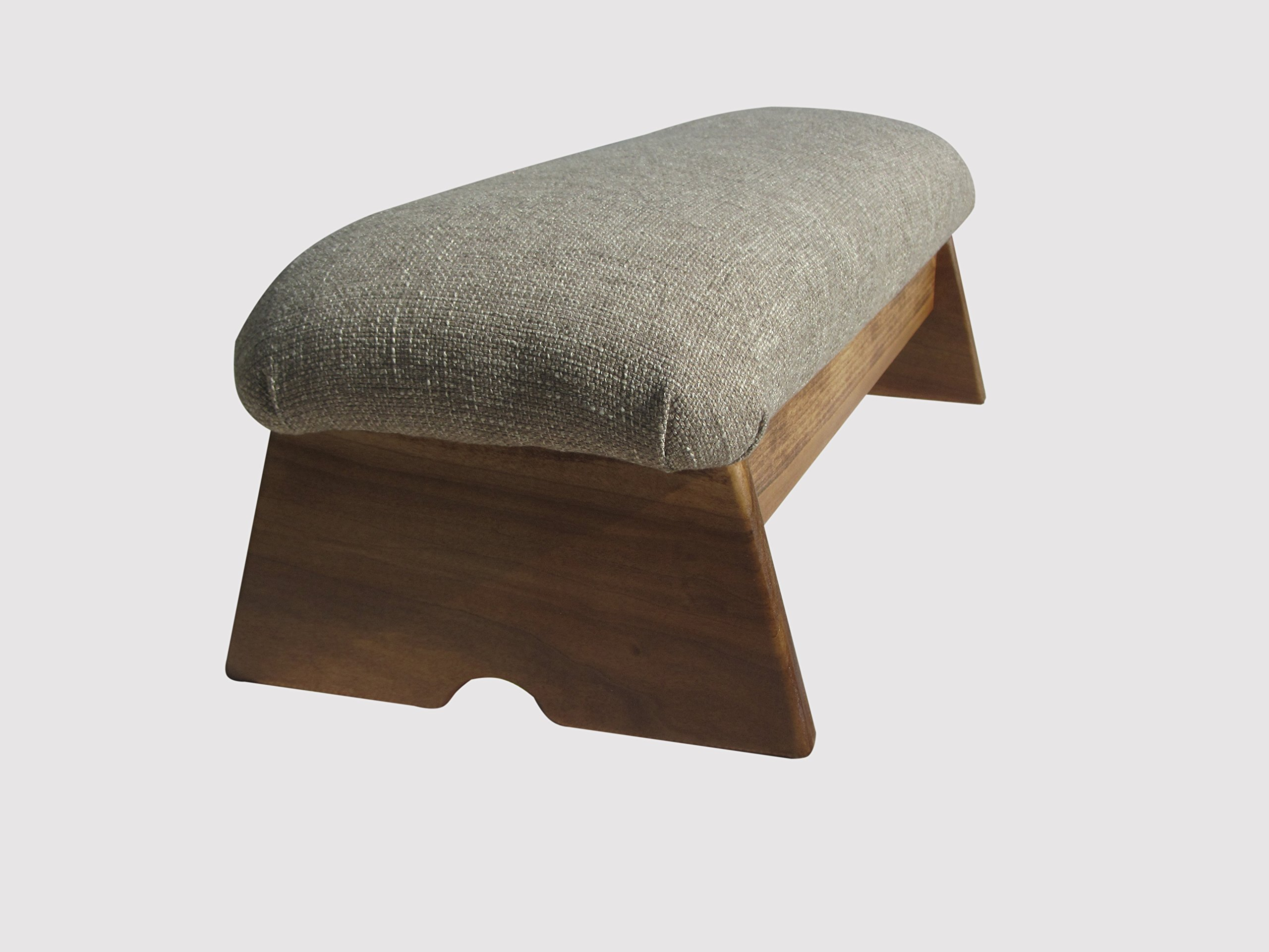Padded Stability Bedside Foot Stool, Maple Stain, 9'' Tall (Made in the USA) (Desert Sand - 9'')