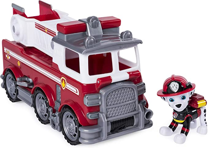 Paw Patrol Marshall Fire Truck Ride-On Rutscherfahrzeug mit Geheimfach und Speci