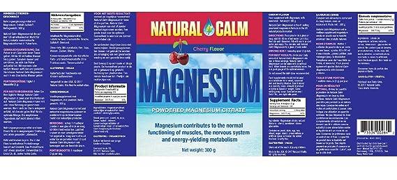 Natural Vitality Natural Cam Magnesio Para Estrés Cereza 300 g: Amazon.es: Salud y cuidado personal