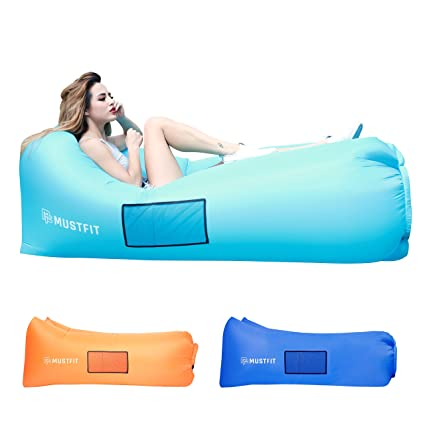 inflatable lounger bag hammock air sofa and pool float 2017 upgraded   air chair hangout bag amazon     inflatable lounger bag hammock air sofa and pool      rh   amazon