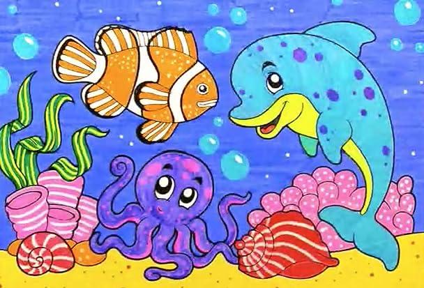 87 Secret Garden Coloring Book Fish