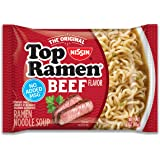 Nissin Top Ramen, Beef, 3 Ounce, 24 Count