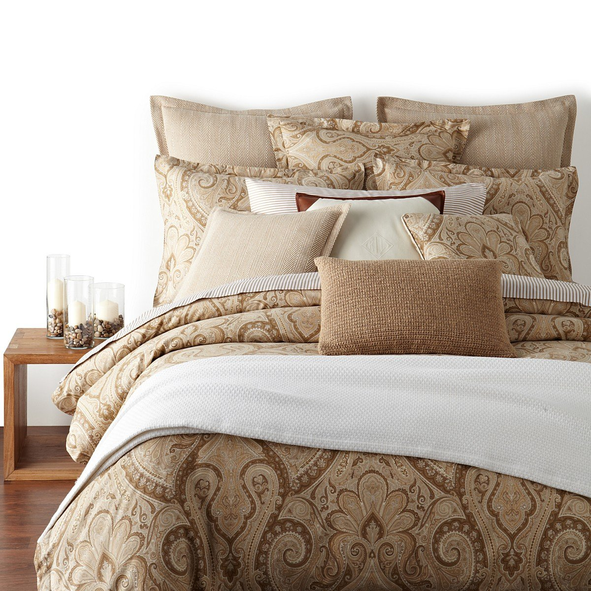 Ralph Lauren Desert Spa Paisley Full/Queen Duvet / Comforter Cover