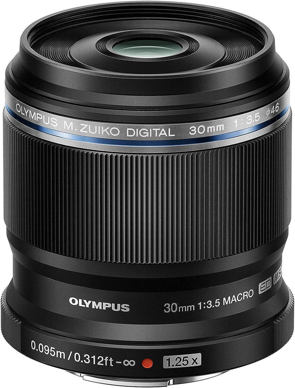 Olympus M.Zuiko - Digital ED 30 mm F3.5 macro Objetivo, apto para todas las cámaras MFT (modelos olympus OM - D & Pen, Panasonic G - Series), negro