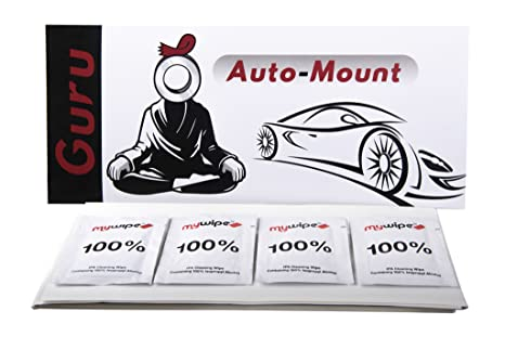 100 x Auto Choice Car Number Plate Sticky Fixing Foam Pads