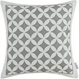 Euphoria CaliTime Home Decorative Cushion Covers Pillows Shell Cotton Linen Blend Gray Circles Rings Chain Geometric Figures 45cm X 45cm