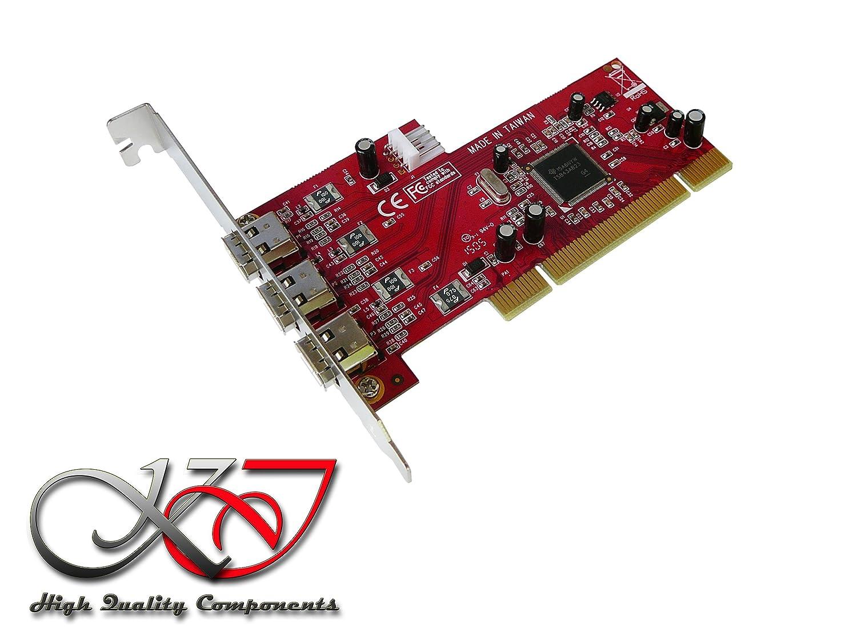 Kalea Informatique – Tarjeta controlador PCI FireWire 400 (IEEE1394 a) con Chipset Texas Instruments TI TSB43AB23 – 2 puertos – profesional, piel ...