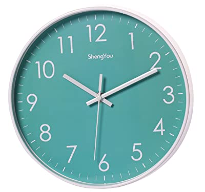 SonYo Indoor Non-Ticking Silent Quartz Modern Simple Wall Clock Digital Quiet Sweep Movement Office Decor 11 Inch