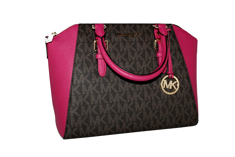 28268566a345 MICHAEL Michael Kors Women s Ciara Large Top Zip Handbag Leather Satchel   Handbags  Amazon.com