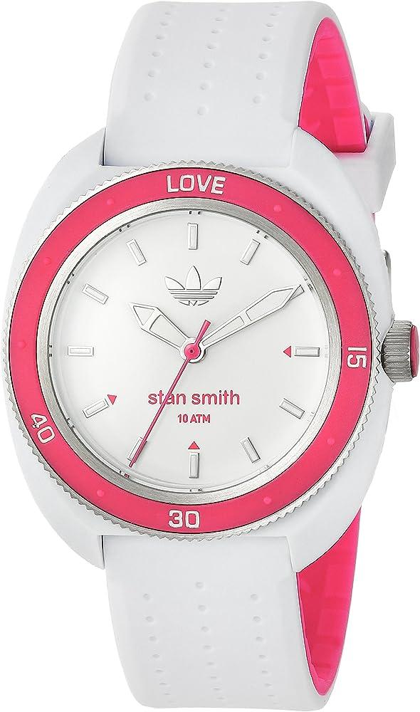 adidas de la Mujer de Stan Smith de Cuarzo Casual Reloj (plástico y Silicona, Color: Blanco (Modelo: adh3188): Adidas: Amazon.es: Relojes
