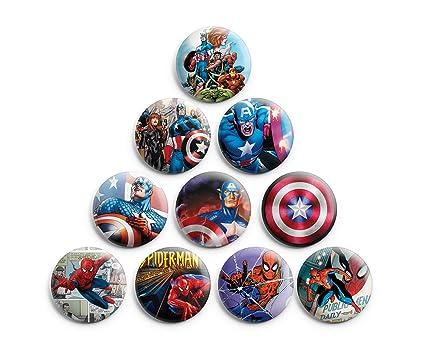 Amazon.com: Super Heroes Marvel Comics Pinback botones Badge ...