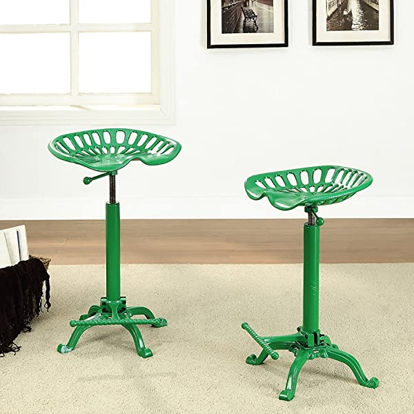 Carolina Chair and Table Adjustable Seat Stool, Novelty, Tractor Green