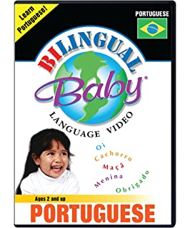 Bilingual Baby Learn Portuguese Total Immersion DVD for Babies and Toddlers