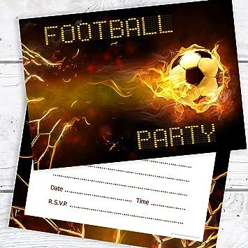 Olivia Samuel Football Birthday Party Invitations