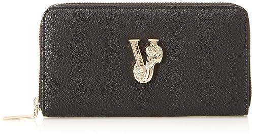 16cfc10dc6 Versace Jeans Ee3vsbpv1, Portafoglio Donna, Nero, 1.5x10.5x19 cm (W ...