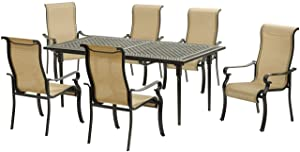 Hanover BRIGDN7PC-EX, Tan Outdoor Furniture
