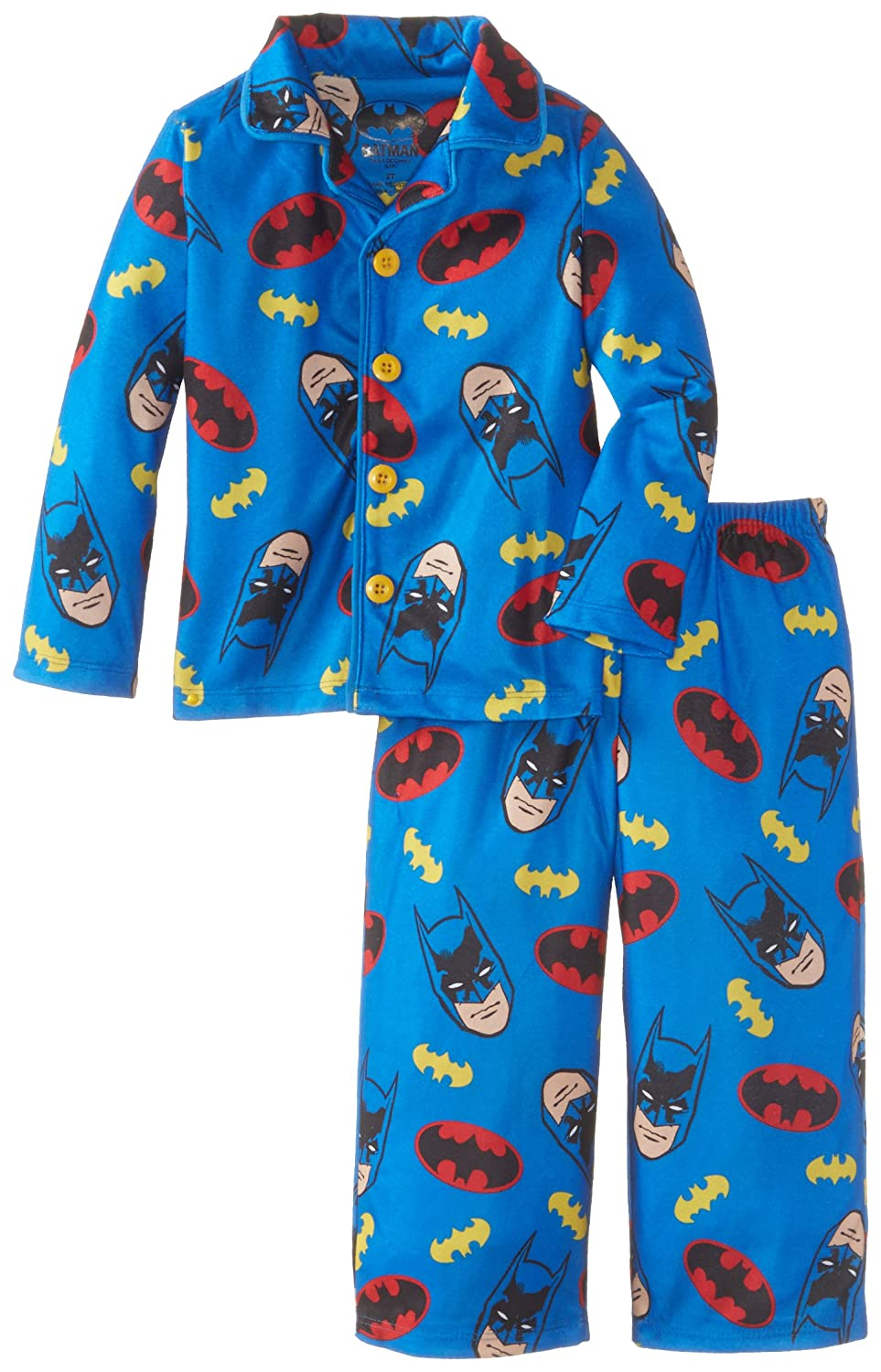 Komar Kids Little Boys' Batman Button Front Pajama Set Komar Boys 2-7 K157549BM