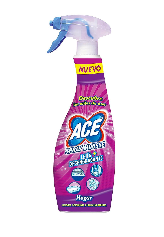 Ace Spray Mousse y Lejía Desengrasante - 0,7 l: Amazon.es: Amazon ...