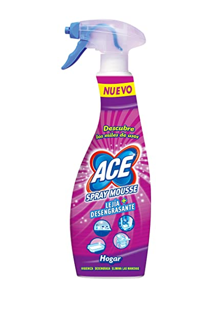 Ace Spray Mousse y Lejía Desengrasante - 0,7 l