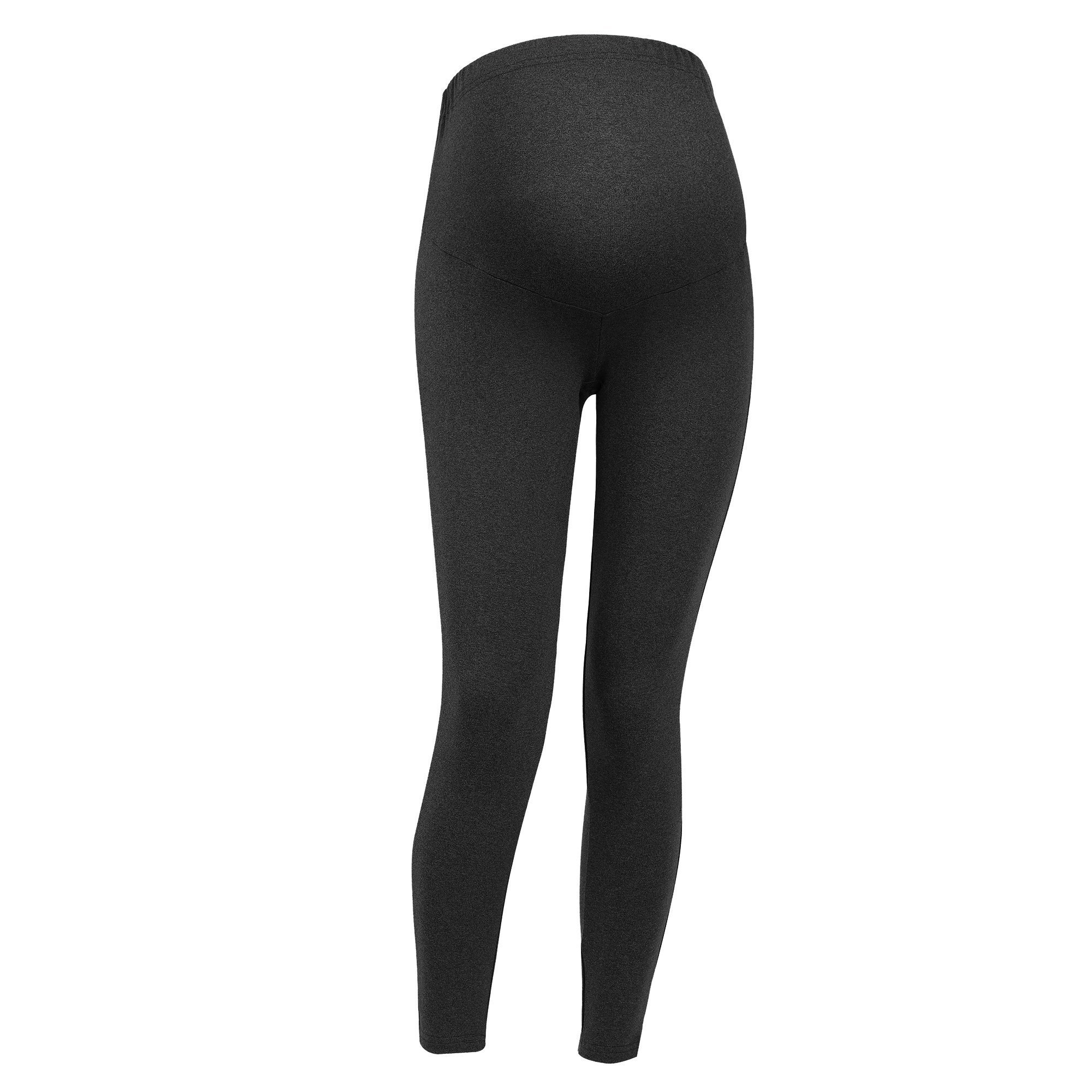 CIIMM Women High Waist Elastic Maternity Leggings Capri Maternity Ankle Skinny Pant Belly Pants with Soft Support Texture