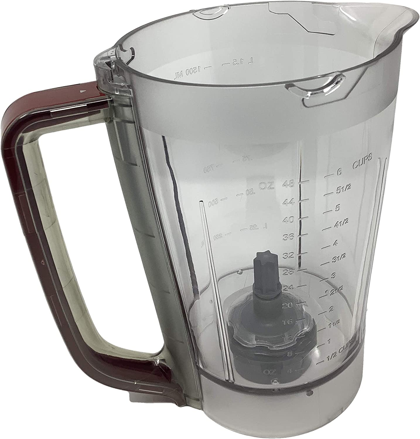 Ninja 48oz Pitcher Bowl for BL206 BL207 BL250 700w Extreme Kitchen System Pulse Blender, RED