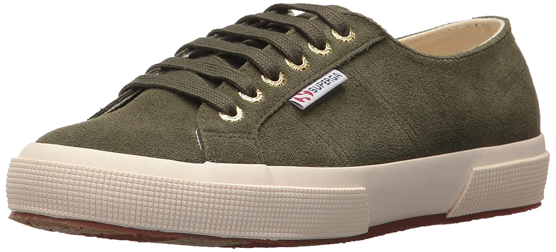 Superga Women's 2750 Sueu Fashion Sneaker B007PTD22W 41 M EU (9.5 US)|Military