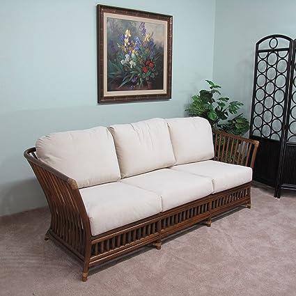 Amazon Com Kingrattan Com Rattan Sofa Couch Cushions Made In Usa