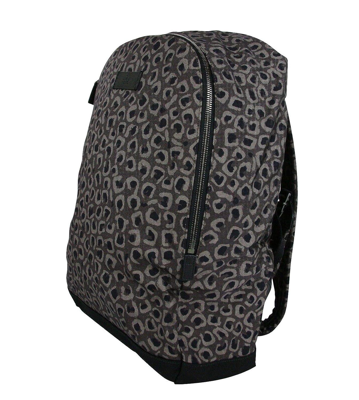 f2bcbe270e5b Amazon.com: Gucci Unisex Dark Leopard Print Gray/Brown Canvas Backpack Luggage  Bag 353476 1186: Computers & Accessories