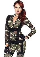 Leg Avenue Pretty Paratrooper Zipper Front Camo Jumpsuit and Body Harness