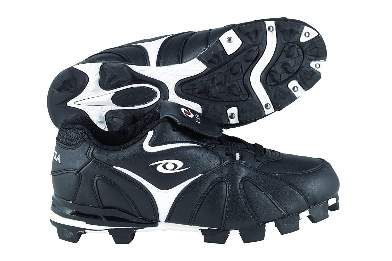 Acacia rbi-low野球/ソフトボール靴 B00DCDU2YG 4|ブラック/ホワイト ブラック/ホワイト 4