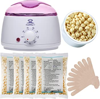 MAKARTT Wax Warmer Melter Hair Removal w/4 Bags Wax Beans