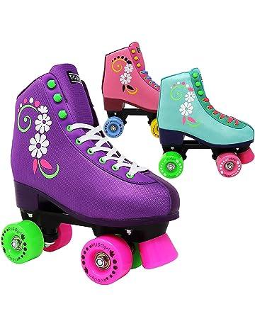 55dd9b36b4e Lenexa uGOgrl Roller Skates for Girls - Kids Quad Roller Skate - Indoor