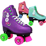 Lenexa uGOgrl Roller Skates for Girls - Kids Quad Roller Skate - Indoor, Outdoor,