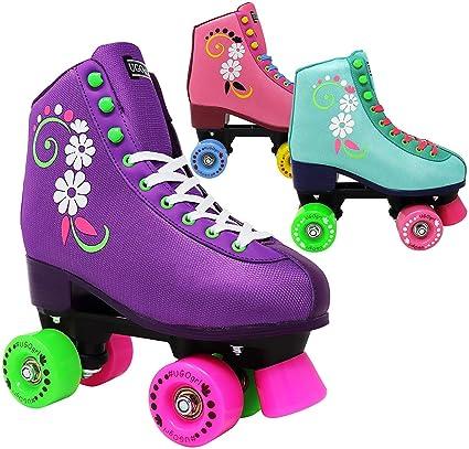 Roller Skates Amazon Com >> Lenexa Ugogrl Roller Skates For Girls Kids Quad Roller Skate Indoor Outdoor Derby Children S Skate Rollerskates Made For Kids Great Youth