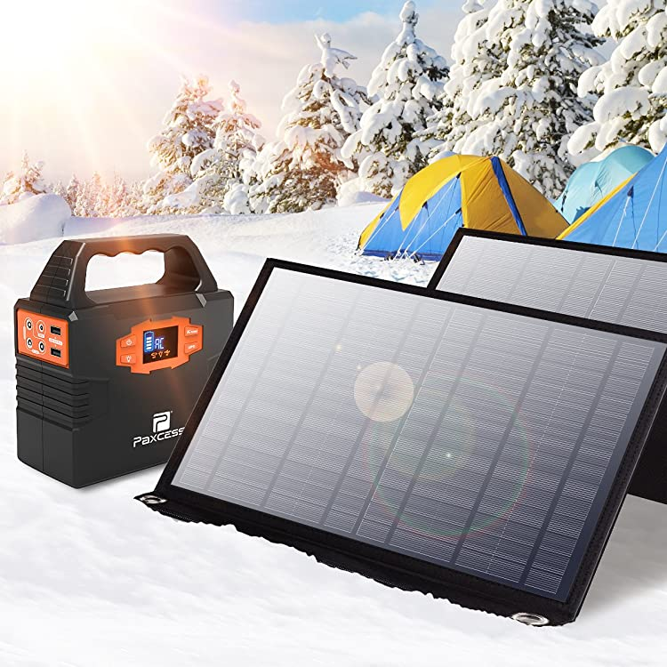Paxcess Foldable 50W Solar Panel Charger for Suaoki Portable Generator