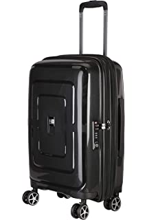 6b62aa9c9 Nasher Miles Amsterdam Expander Hard-Sided Polypropylene Cabin Luggage  Black 20 Inch | 55CM Trolley
