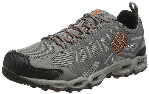 Columbia Men's Ventfreak Outdry, Low Rise Hiking Shoes - Grey (Light Grey/ Heatwave