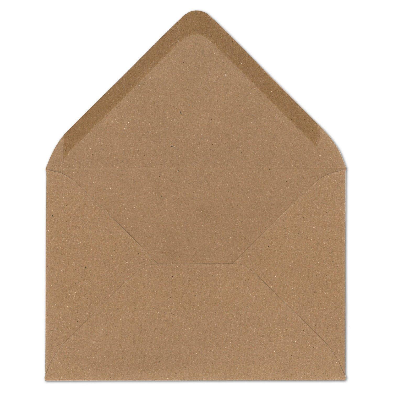 400 Stück I Vintage-Umschläge DIN DIN DIN B6 125 x 178 mm Kraftpapier 120 g m² braun Recycling Brief-Umschläge Nassklebung Spitzklappe I UmWelt by GUSTAV NEUSER® B06X6M2WR2 | Am praktischsten  d5d7dc