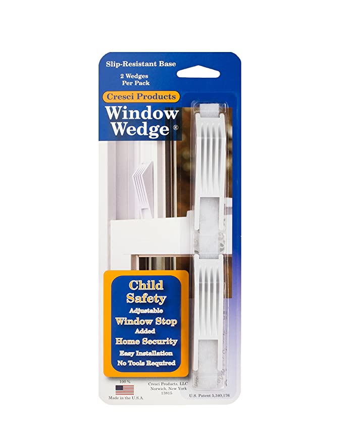 The Window Wedge - Adjustable Window Stop (10 total - 5 two packs) - - Amazon.com