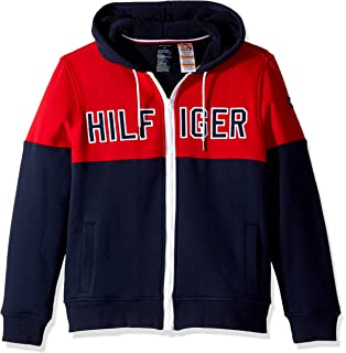 Tommy Hilfiger Mens Adaptive Hoodie Sweatshirt with Magnetic Zipper